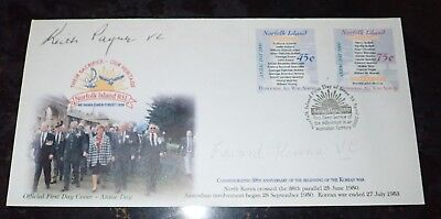 Anzac day 2000 First day cover signed by VC Winners Keith Payne & Edward Kenna