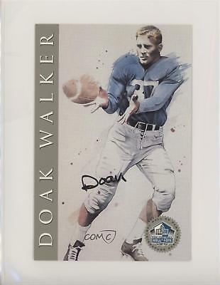 1998 NFL Hall of Fame Signature Series Autographed #DOWA Doak Walker Auto Card