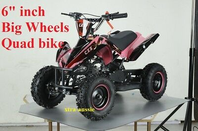 "49Cc Starter Mini Quad Bike 6"" Wheel Atv Buggy Kids 4 Wheeler Pocket Dirt Pink"