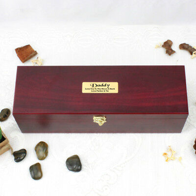 Personalised Rosewood Wine Box -Dad, Pop, Grandpa, Uncle - Made to Order