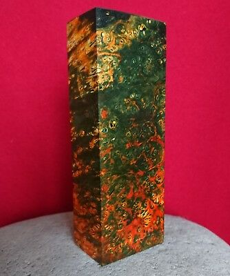 Multi-Color Stabilized Wood Maple Burl Piece Making Knife Handle Blanks Material