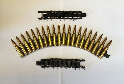 20 X 7.62 308 Ammo Bullet Links. Make A Machine Gun / Machinegun Belt.