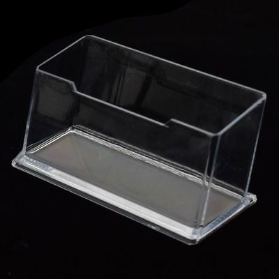 Clear Acrylic Plastic Desktop Business Card Holder Display Stand Desk Shelf DL5