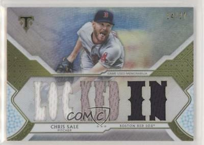 2018 Topps Triple Threads Relics Silver #TTR-CSA3 Chris Sale Boston Red Sox Card