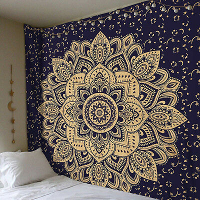 Twin Hippie Mandala Tapestry Wall Hanging Throw Bohemian-Bedspread Decor Indian
