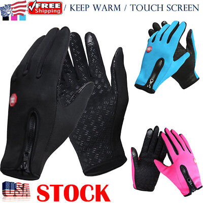 Women Men Winter Thermal Touch Screen Gloves Outdoor Sport Ski Gloves Waterproof