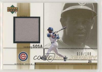 2002 Upper Deck Game-Used Jerseys Gold/100 #SS Sammy Sosa Chicago Cubs Card