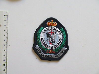 The Olympic Village Security Cap Patch NSW New South Wales Police Force Patch