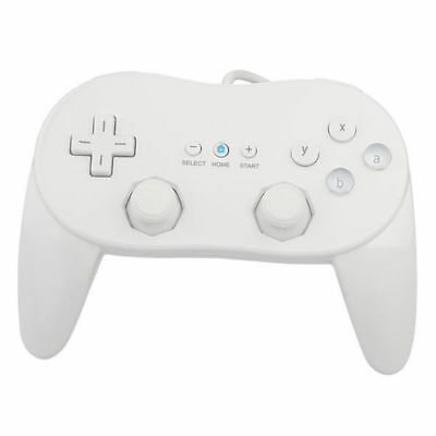 Classic Joypad Wired Controller Gampad GamePads Joystick for Nintendo Wii-White
