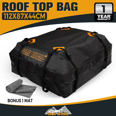 Waterproof Car Roof Top Rack Carrier Cargo Bag Luggage Storage Travel Outdoor