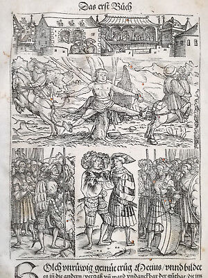 Livius History of Rome Post Incunable Woodcut Schoeffer (11) - 1530