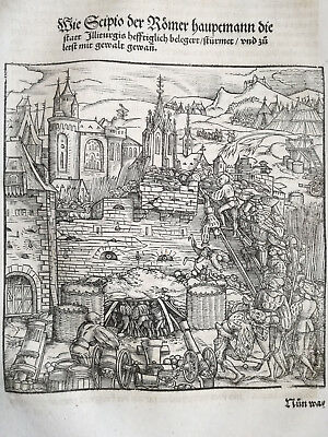 Livius History of Rome Post Incunable Woodcut Schoeffer Illiturgis Spain 1530