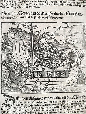 Livius History of Rome Post Incunable Woodcut Schoeffer (284) 1530