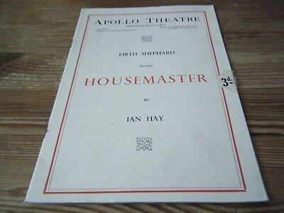 1936  Theatre  Programme  -  Housemaster     -   Apollo  Theatre   London    Vgc