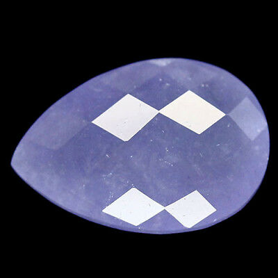 9.25 Ct Natural! Lavender Blue Madagascar Chalcedony Pear Checkerboard Table