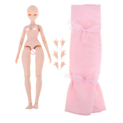 Resin 26-Joints 1/4 BJD DIY Nude Body for LUTS OB Kurhn Ball Jointed Dolls