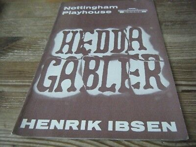 1966   Theatre  Programme  -  Hedda  Gabler -   Nottingham Playhouse   Vgc