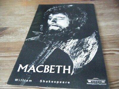 1969   Theatre  Programme  -  Macbeth  -   Nottingham Playhouse   Vgc