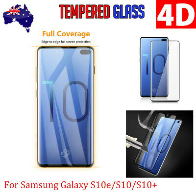 4D Full Cover Tempered Glass Screen Protector For Samsung S10 Lite/S10 Plus