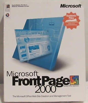 MICROSOFT FRONTPAGE 2000 (The Microsoft Web Site Creation & Management tool)