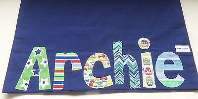 Personalised Gift Children's Appliqued Pillowcase Navy / Royal Blue
