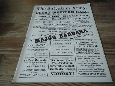 1975    Theatre  Programme  - Major  Barbara  -  Nottingham Playhouse  Vgc