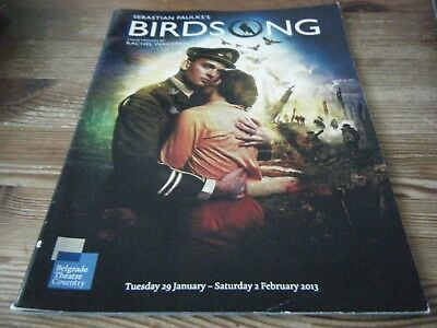 2013  Theatre  Programme  - Birdsong  -  Ww1    -  Belgrade  Coventry   Vgc