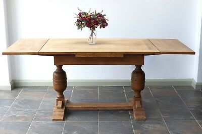 Large Extending Dining Table Light Oak Country Farmhouse - Delivery Available