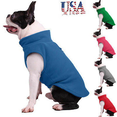 Pet Dog Fleece Harness Vest Jumper Sweater Coat for Small Medium Dogs Jacket USA