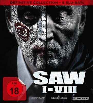 Saw  1-8 - Definitvie Collection - 8 Blu Ray DigiPak - FSK 18