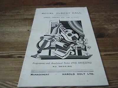 1948  Theatre  Programme  Jose  Iturbi  -  Royal Albert Hall  Orchestral Concert
