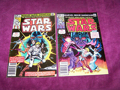 Star Wars #1 and #2 Marvel Movie Showcase Collectors special movie adaptation
