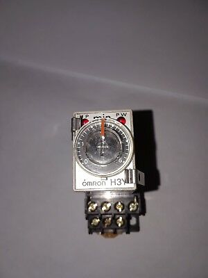 OMRON  H3Y-4 120VAC Timer Relay 3A  with Socket Base