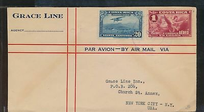 XB35959 Costa Rica 1930s USA airmail cover used