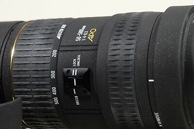 Sigma 50-500mm APO LENS for Minolta AF/Sony A mount in Case with Hood EX SERIES!