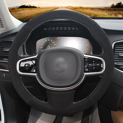 for Volvo XC90 2015-2017 Alcantara steering wheel cover