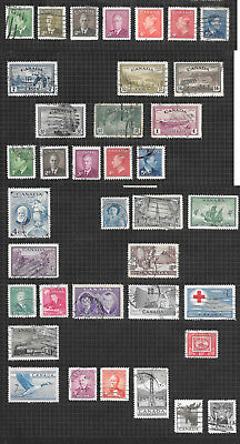 CANADA 1946 to 1953 37 stamps