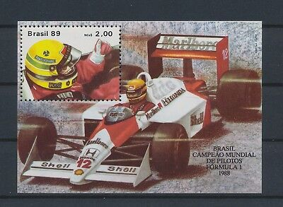 LJ60039 Brazil formula one racing cars sports good sheet MNH