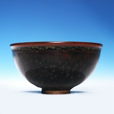 An Exquisite Rare Chinese Ming Dynasty Porcelain Black Glaze Old Bowl SA193