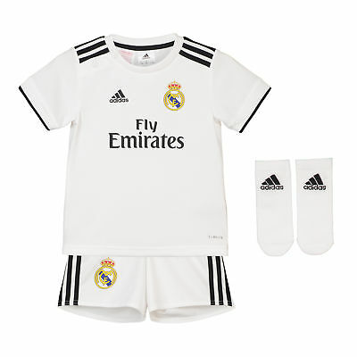 Real Madrid Home Baby Kit Shirt Shorts Jersey Suit Soccer 2018 19 Football
