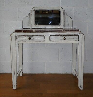 Antique Deco French Marble Washstand Dressing Table,Mirror & Drawers,Shabby Chic