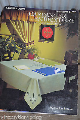 LEISURE ARTS * HARDANGER EMBROIDERY * AN INTRODUCTION by MARION SCOULAR * 108 *