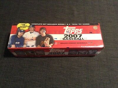 Topps 2007 Baseball Card Complete Set includes Series 1 & 2, & 10 rookie cards