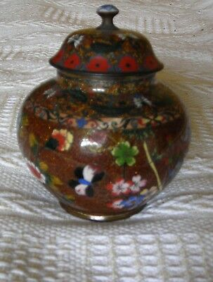 Fine Late 19th Century Chinese Cloisonne Lidded Pot