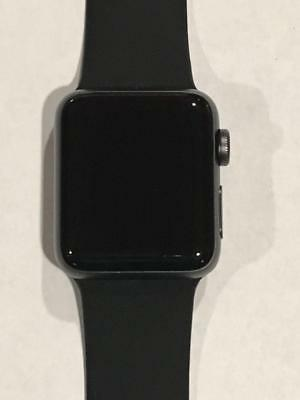 Apple Watch Series 3 38mm Space Gray Aluminium Case with Black Sport Band (GPS)