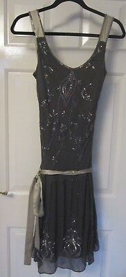 Coast 1920s Style, Silk Flapper Dress. Gatsby, Charleston, Peaky Blinders.