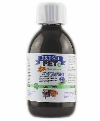 Fresh Pet Small Pets eco-Refill Disinfectant 250ml w/ empty 5L Linen Fresh