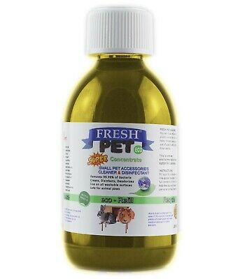 Fresh Pet Small Pets eco-Refill Disinfectant 250ml w/ empty 5L Vanilla