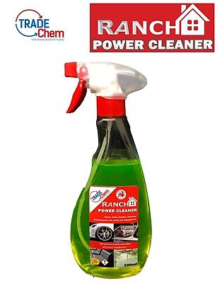 Ranch Power Cleaner Specialist Degreaser For virtually any surface 500ml Spray