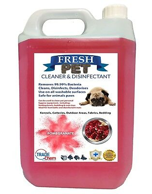 FRESH PET Kennel Dog Disinfectant Deodoriser Cleaner - POMEGRANATE